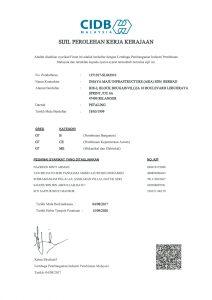 cidb - sijil PKK-1
